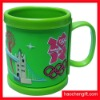 Advertising logo 3D Rubber pvc mug cup