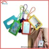 colorful silicone luggage tag, newest evrioment silicone travel bag tags