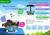 Mocle Farm smart garden Hydroponic technology as fish tank and table lamp