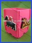 3D charms decoration to the soft pvc pen holder