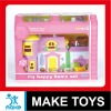 3 Hot Sale Plastic Toy Doll House Play Set