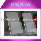 A4 Acrylic Brochure Holder/Lucite Booklet Rack/Perspex Pamphlet Holder