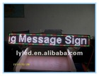 16*128 pixel RGB color indoor or outdoor Taxi or Car LED moving message sign