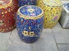 Blue Famille Rose Ceramic Garden Stool
