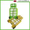 Folding shopping cart holder