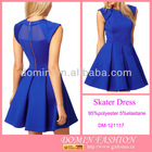 Ladies' Fashion Lantern Skirt Dress;Skater Dress with Mesh Insert for 2013