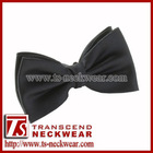Solid Black Silk Bow tie