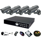 H.264 4CH DVR 4PCS IR SONY CCD 420TVL WATERPROOF CCTV CAMERA SYSTEM blackberry view