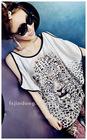 Summer 2012 new women's leopard print bat show strapless short-sleeved T -shirt / Blouses =LD-TS0078