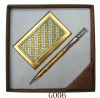 promotion pen and name card gift set
