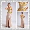 CW110 elegant strapless pleated & beaded weeding dress