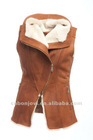 genuine sheepskin leather vest
