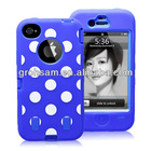 Robot Spots Case For iPhone 5 Soft Plastic Case 3 in 1 Protector