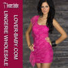 Wholesale One Shoulder Dress With Lace For Clubwear