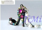 Min high-heel Shoe Cell Phone MP3MP4 Charm Strap Chain
