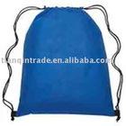 Blue promotional drawstring bag