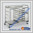 Stainless Steel Service trolley for serving Breakfast and evening Snacks