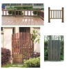 outdoor WPC fence/eco-friendly plastic wood fence