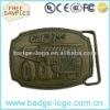 Zinc alloy metal brass belt buckle engraving logo