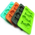 2012 Cute fishbone wholesale silicone ice storage tray