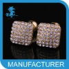 cheap crystal alloy custom enamel cufflinks 2012
