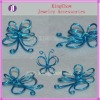 two layers iron wire butterfly ornaments and pendant(ZJAH-0501)