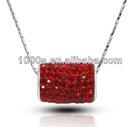 columniform crystal necklace pendant