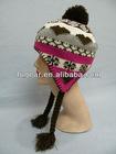 Fashion knitted rabbit ear cap