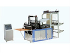 double layer hot seal cold cut bottom seal garbage bag machine