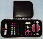 Packed in imitation leather with complete tools travel sewing kits RF300639