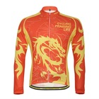 MONTON Dragon Red Yellow 2012 Cycling wear long sleeve jersey set accept custom