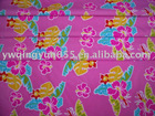 Printed Leaves Knitted Fabric For Swimwear & Underwear