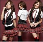 2012 fashion sexy schoolgirl uniform