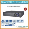 Professional support 16ch IP cameras and 16h 960H analog cameras 2U 32ch Hybrid DVR, DVR-9216HFI-H16