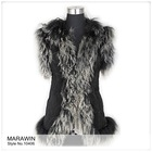 10406 Fashion outwear, toscana fur vest / coat with Tibet lamb trim