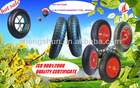 wheelbarrow tire 3.50-8 with ISO 9001