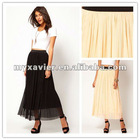 Mesh Maxi pleated skirt