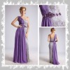 CW204 luxurious one-shoulder embroider & ruffle pictures formal dresses women