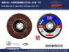 "Flap disc 4"" glass fiber back, 80 page, ALO, T27."