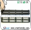 48 Port Cat5e Patch Panel -- 110-Type (568A / 568B Compatible)