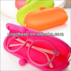 Silicone glasses case, Silicon Coin Purse with sealed bag for custom LOGO
