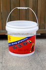 supply high quality silk screen printed white PP plastic paint pails with handles