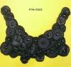 black traditional dress collar