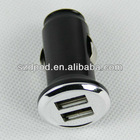 hotsales dual usb car charger with output 5V1A for iphone,motorola ,samsung