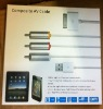 TV RCA Video Composite AV Cable +USB for Apple iPad 2 3 iPhone 4 4S iPod Touch
