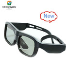 Guaranteed 100%+Free custom LOGO+ New active shutter 3d glasses for DLP Link projector