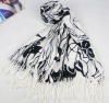 Foral printed Acrylic scarf,new fashion 2012 for lady