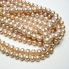 Top Quality Natural Lavender Round Freshwater Pearls