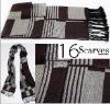 100% Acrylic winter scarf with jacquard