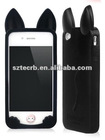 New silicone case for iphone,kiki cat case